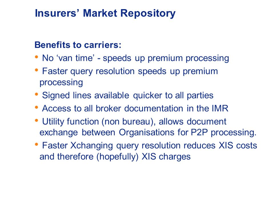Insurers' Market Repository