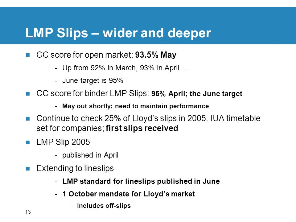 LMP Slips – wider and deeper