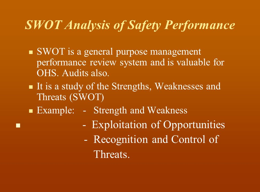 Swot management and greatest strength