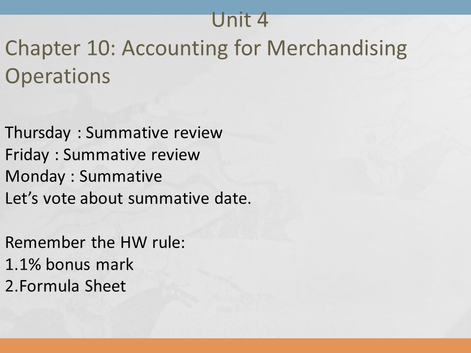 Chapter 10: Accounting for Merchandising Operations - ppt download