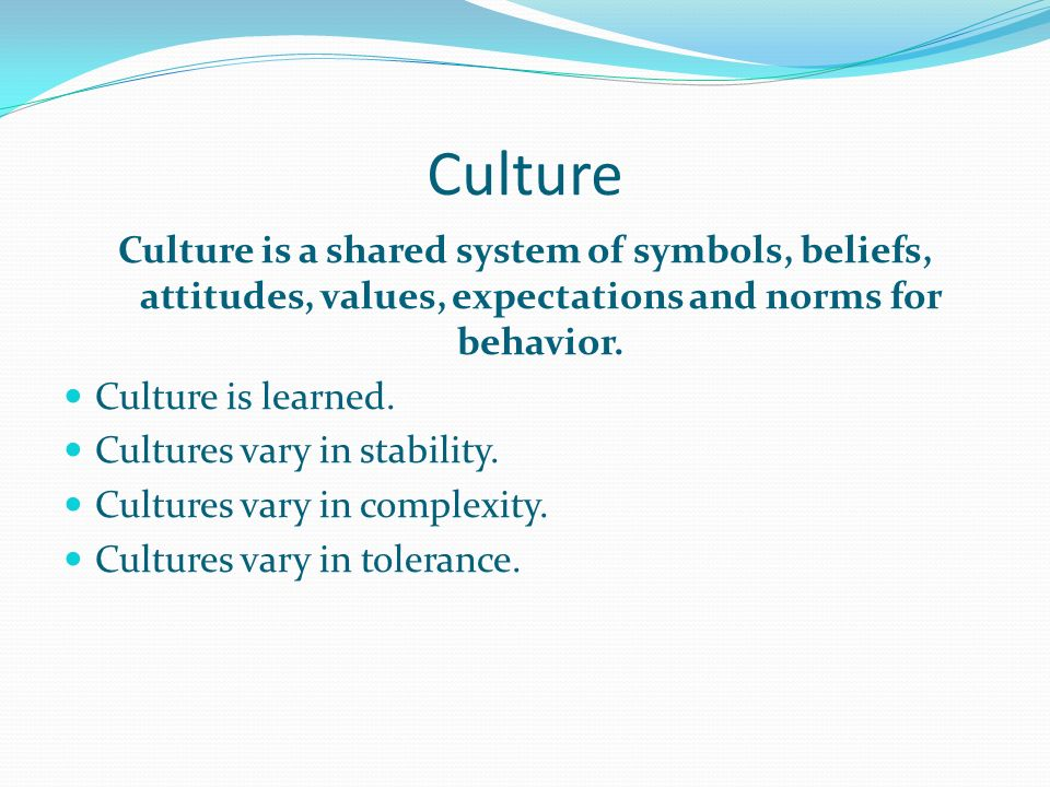 culture as a set of attitudes behaviors and symbols Cultural competence: a congruent set of the impact of culture on behavior, attitudes geographical indications and symbols and, movable cultural.