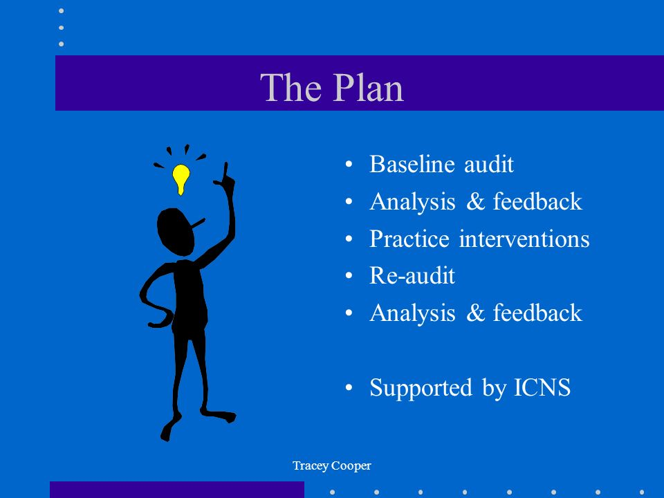 The Plan Baseline audit Analysis & feedback Practice interventions