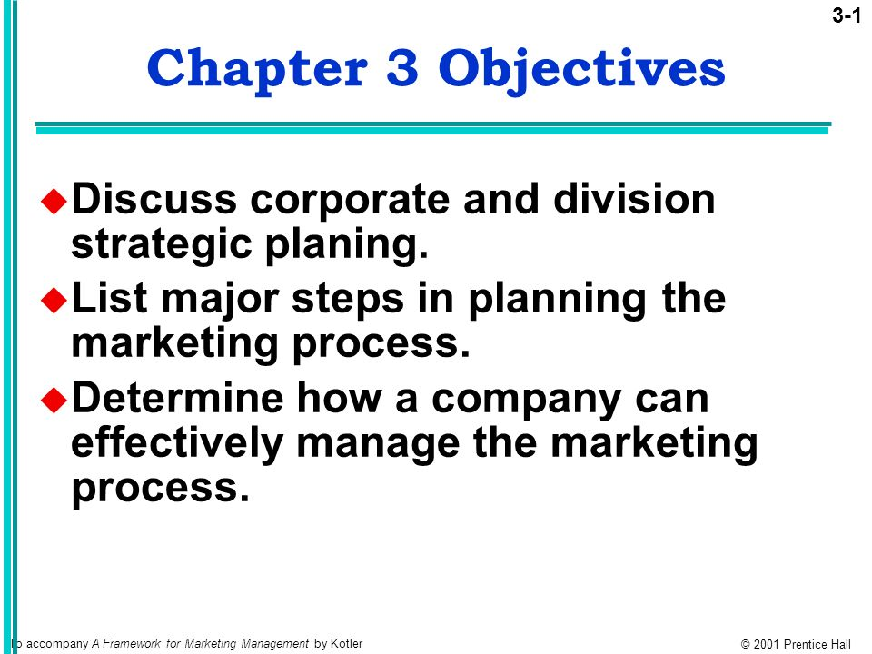Chapter 3 Objectives Discuss Corporate And Division Strategic