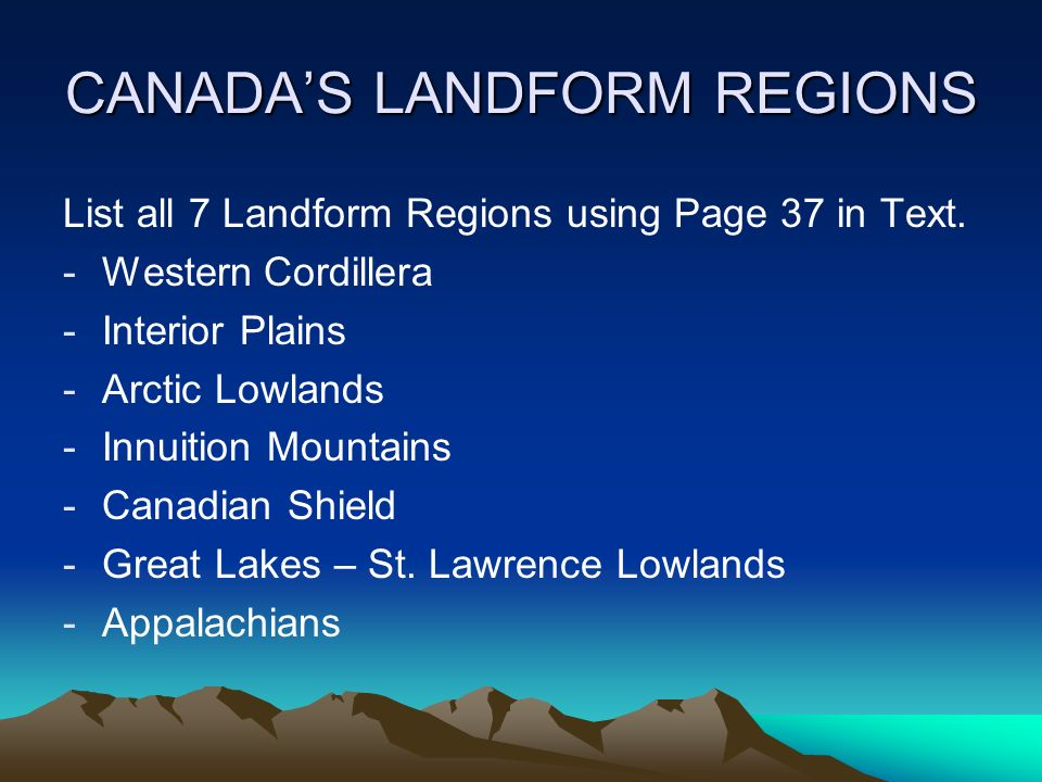 List of regions of Canada