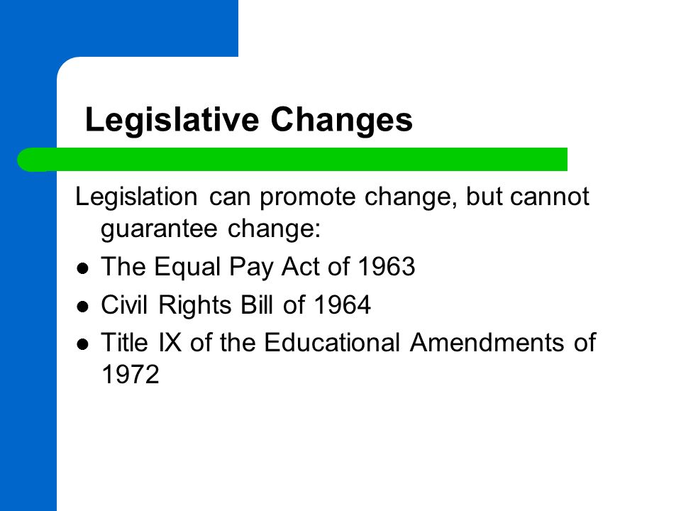 title ix legislation analysis Title ix is a comprehensive federal law that prohibits discrimination on the basis of sex in any federally funded education program or activity.
