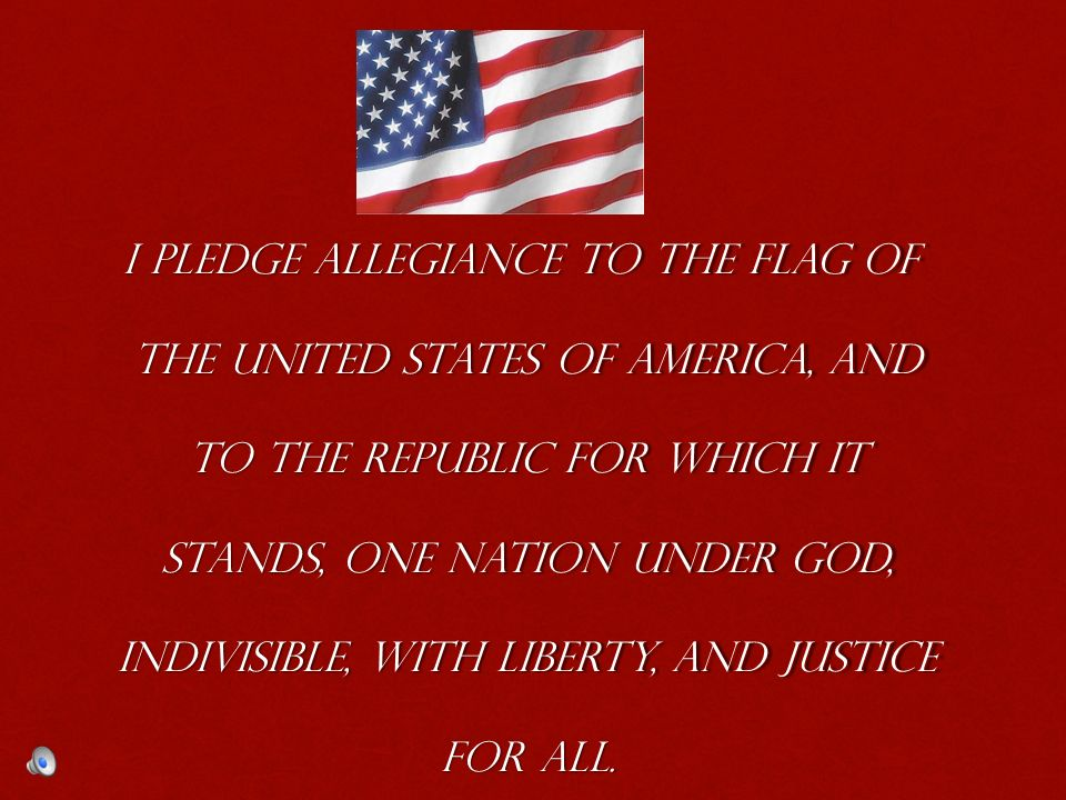 my way to pledge allegiance to the flag of the united states