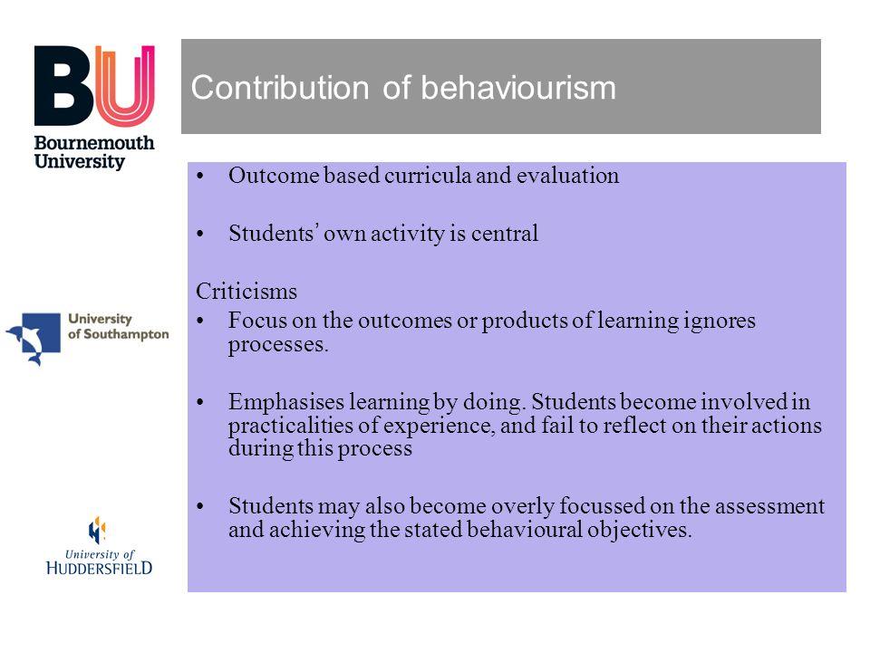 Contribution of behaviourism