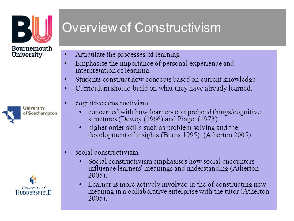 Overview of Constructivism