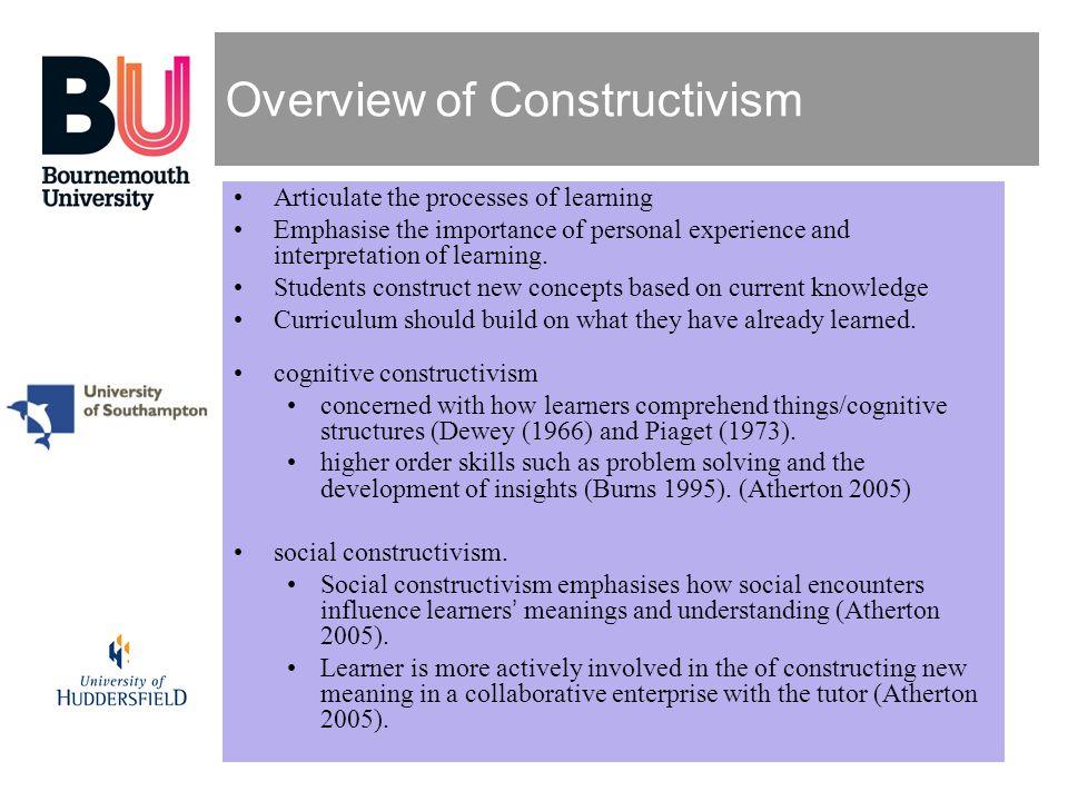 Overview of Constructivism