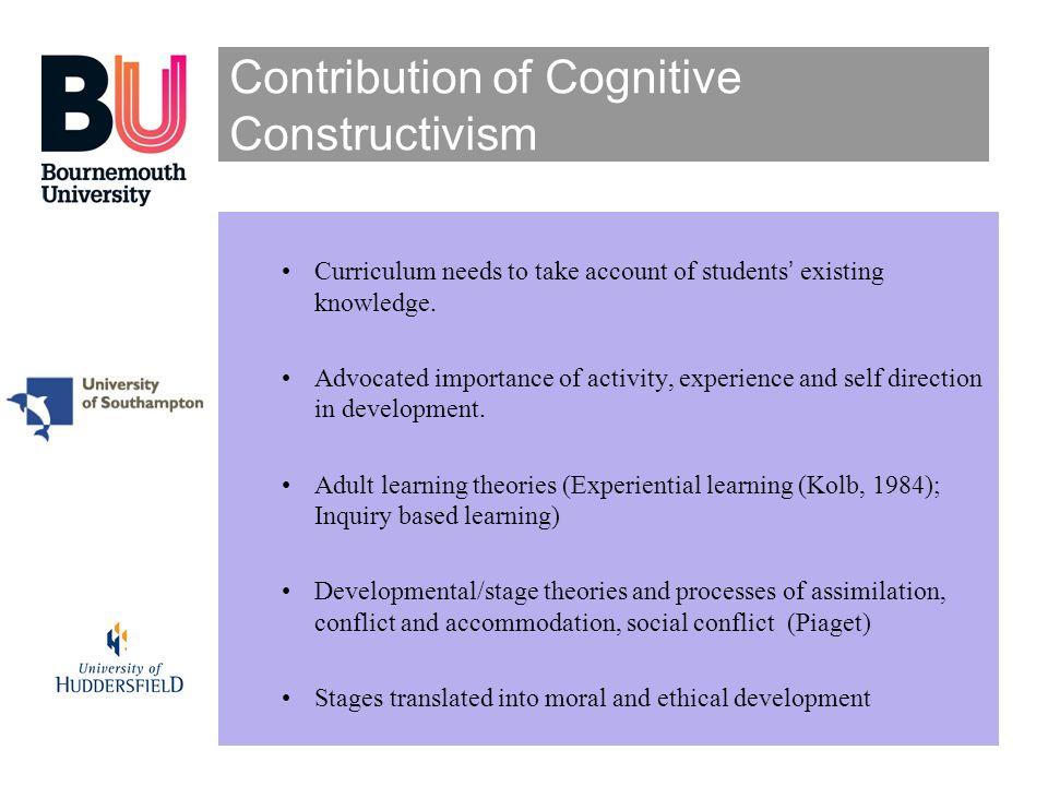 Contribution of Cognitive Constructivism