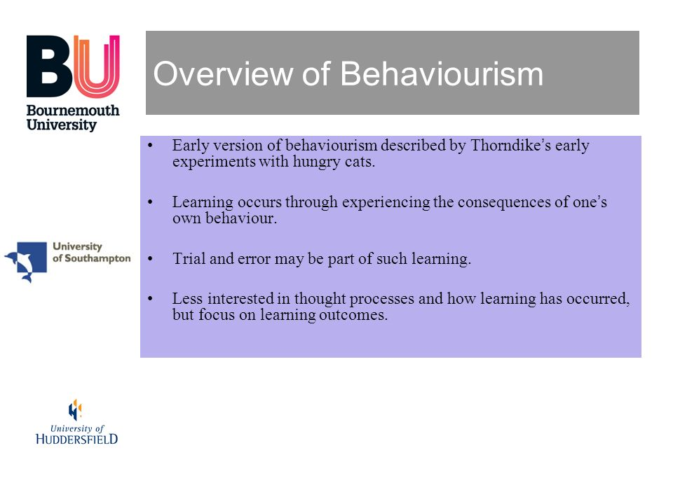 Overview of Behaviourism