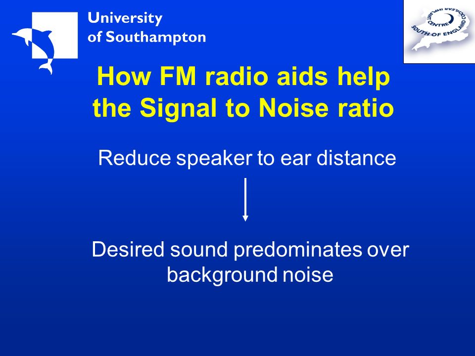 How FM radio aids help the Signal to Noise ratio