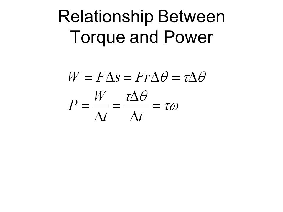 relationship between torque and angular frequency