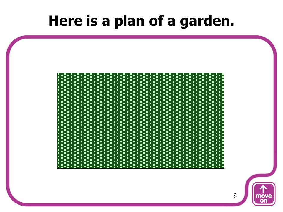 Here is a plan of a garden.