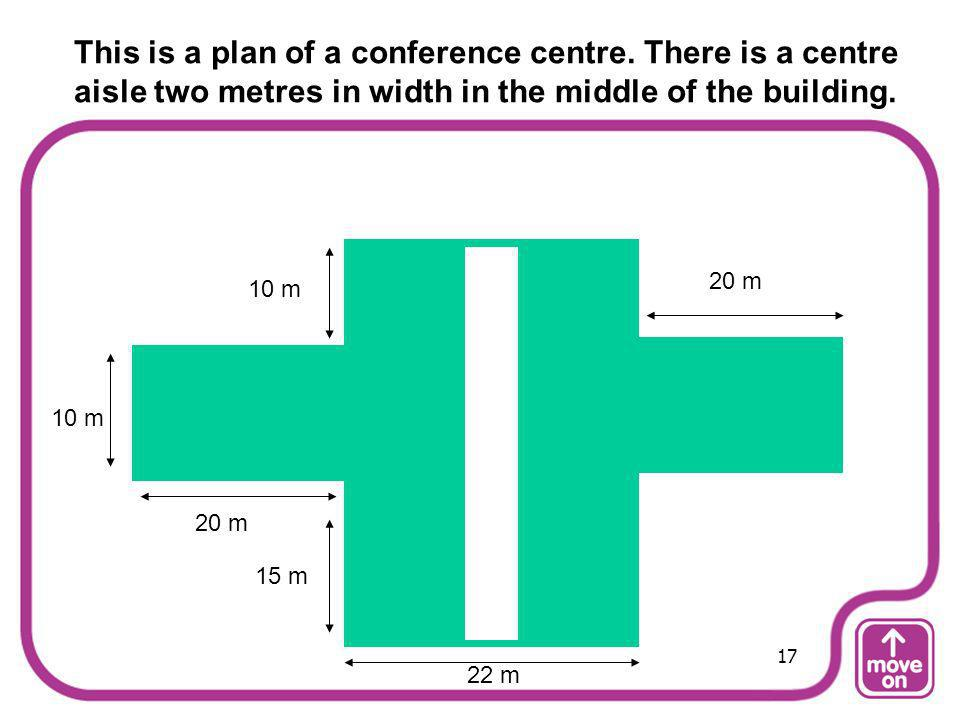 This is a plan of a conference centre