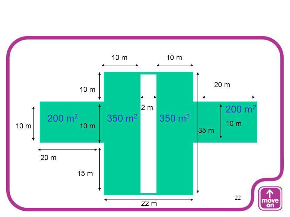 10 m 10 m 20 m 10 m 2 m 200 m2 200 m2 350 m2 350 m2 10 m 10 m 10 m 35 m 20 m 15 m 22 22 m