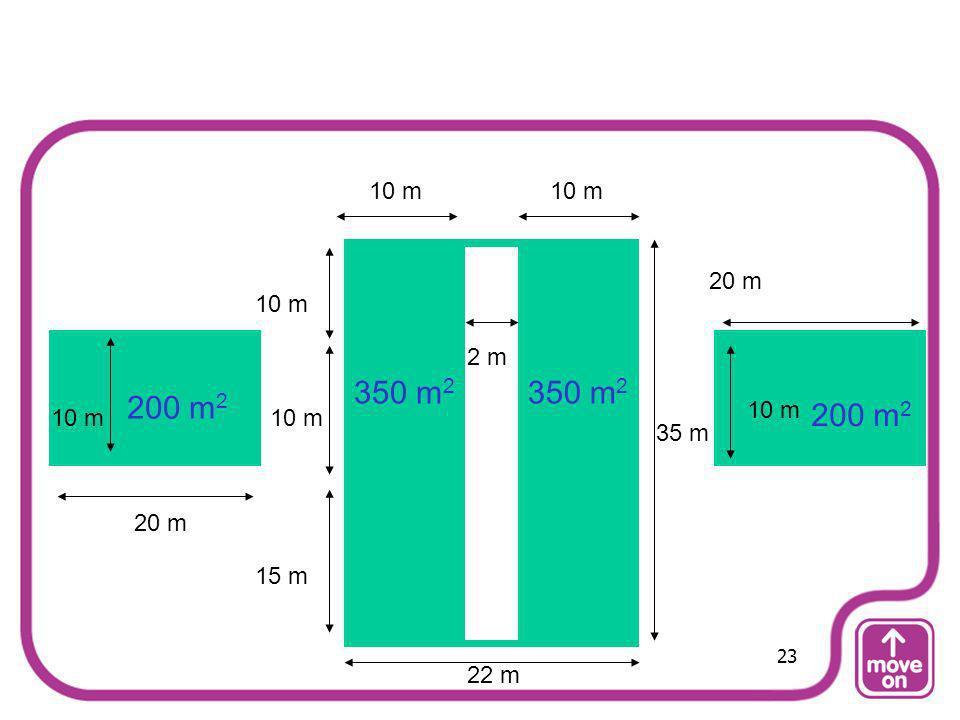 10 m 10 m 20 m 10 m 2 m 350 m2 350 m2 200 m2 10 m 200 m2 10 m 10 m 35 m 20 m 15 m 23 22 m