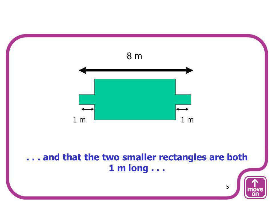 . . . and that the two smaller rectangles are both 1 m long . . .