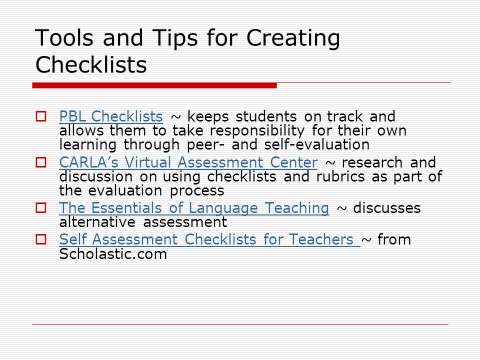 research paper process checklist and rubric