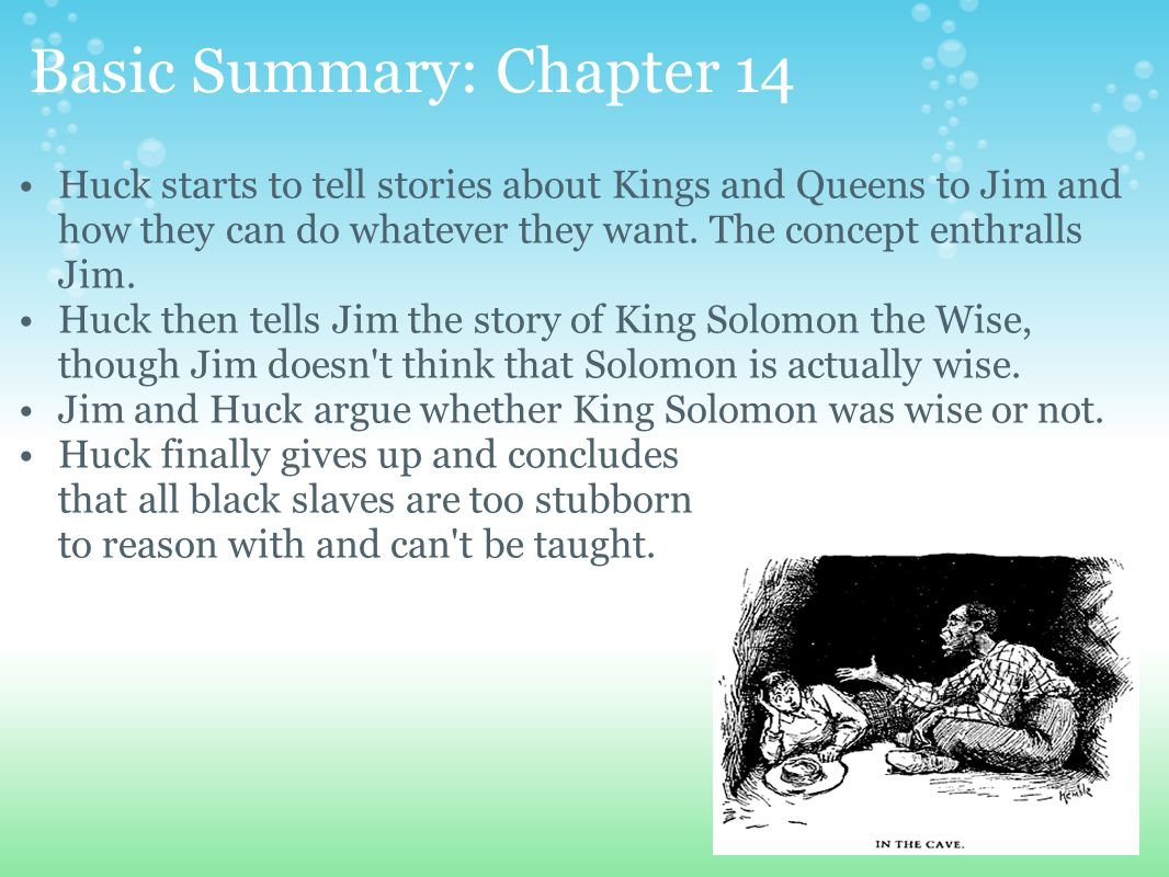 huck chapter summary Mark twain's the adventures of huckleberry finn chapter summary find  summaries for every chapter, including a the adventures of huckleberry finn.