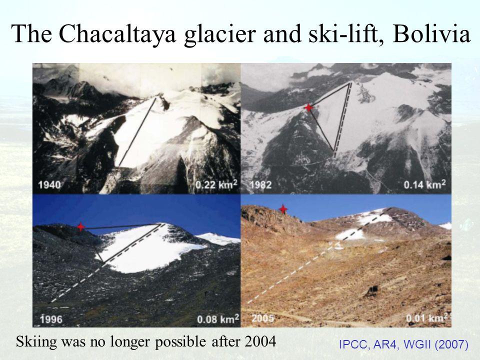 The Chacaltaya glacier and ski-lift, Bolivia
