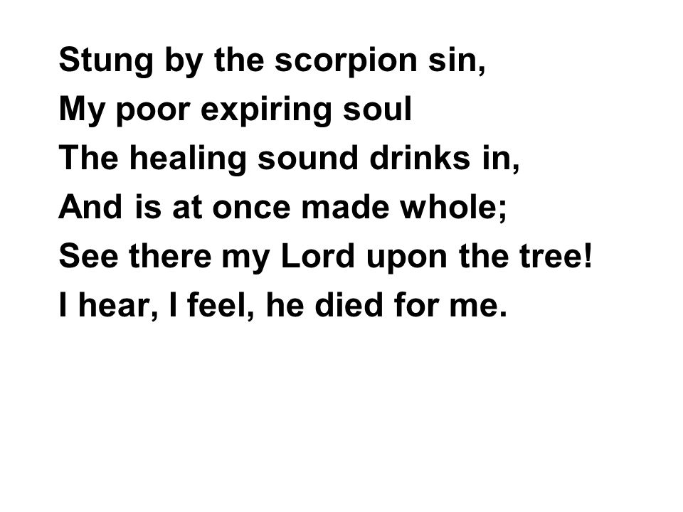 Stung by the scorpion sin,