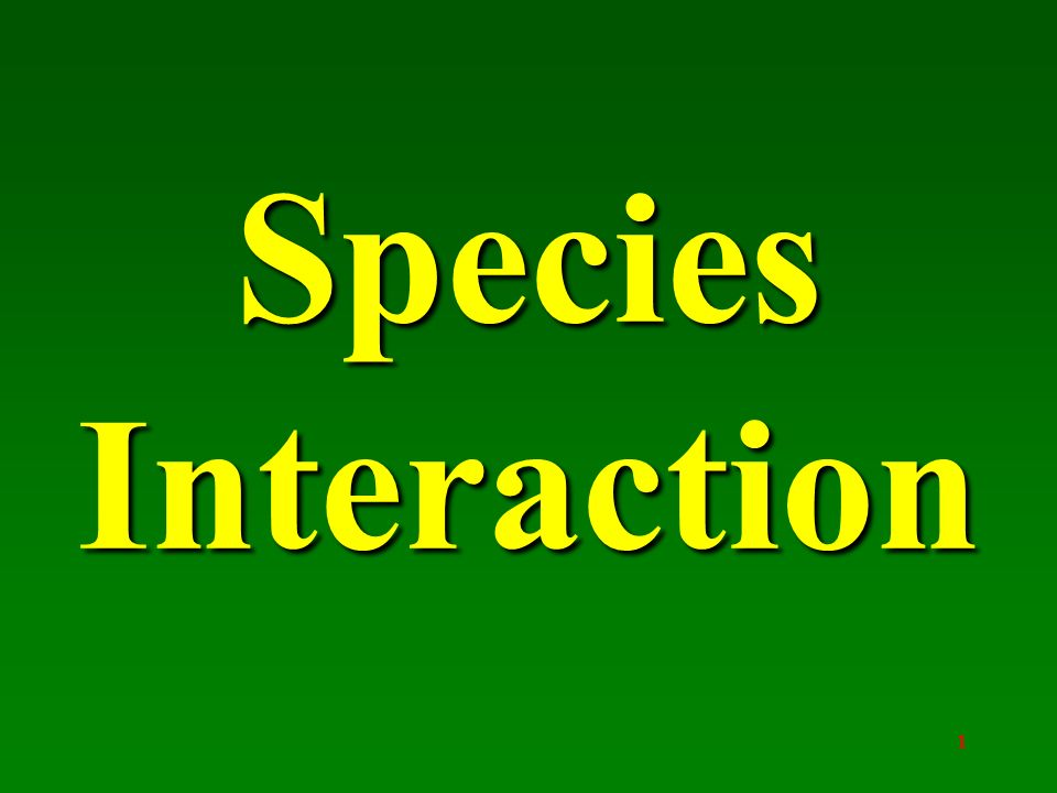 species interaction 1 introduction all species interact with other species in complex antagonistic (eg predator–prey) or mutualistic (eg pollinator–plant) networks.
