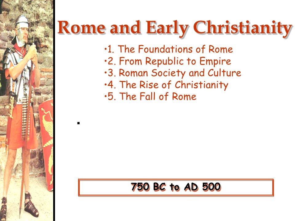 the rise of christianity and the fall of rome The chaos of the third century rome became less important because there was a capital in the east as well reasons for the rise of christianity.
