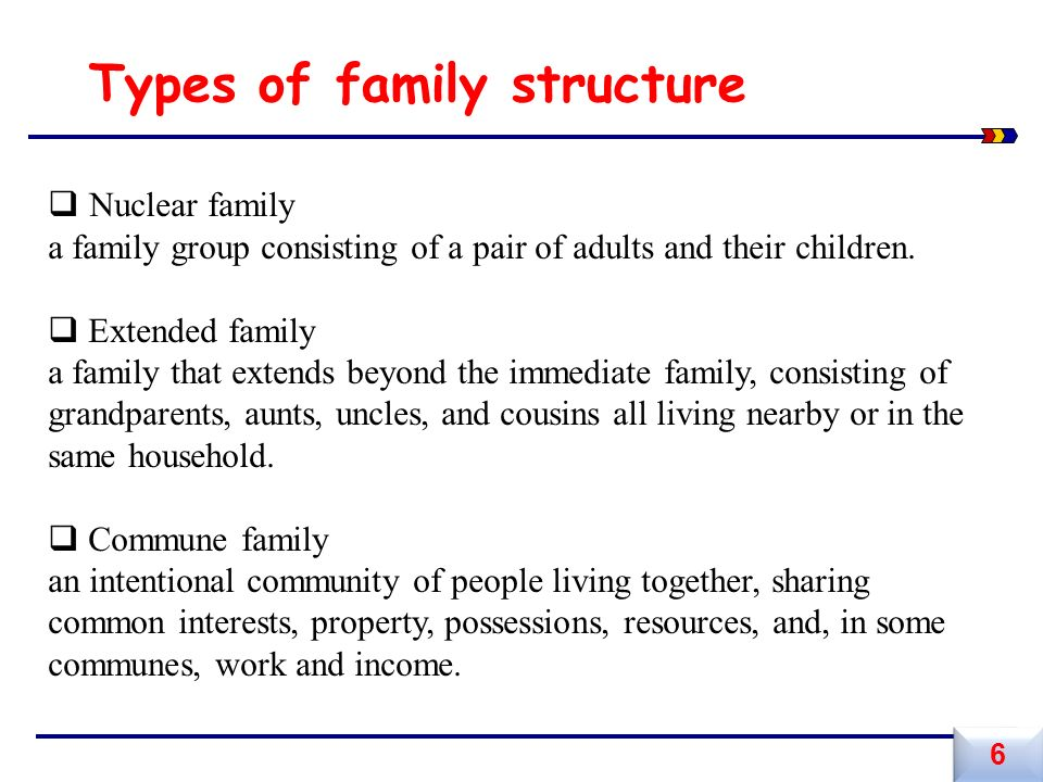family struture Download pdf of department organizational structure  develops child and  family-centered policy and programs for children prior to school entry with a focus .