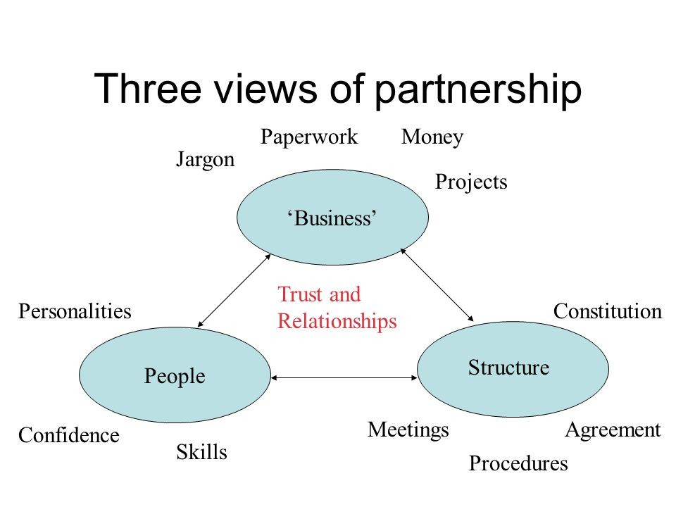 Three views of partnership
