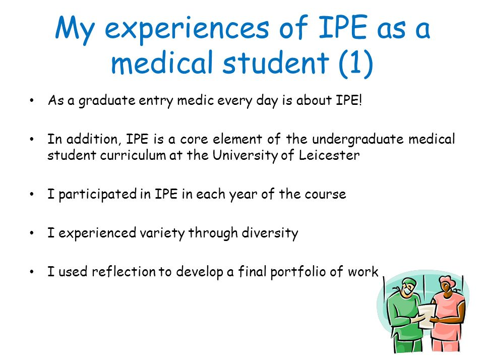 My experiences of IPE as a medical student (1)