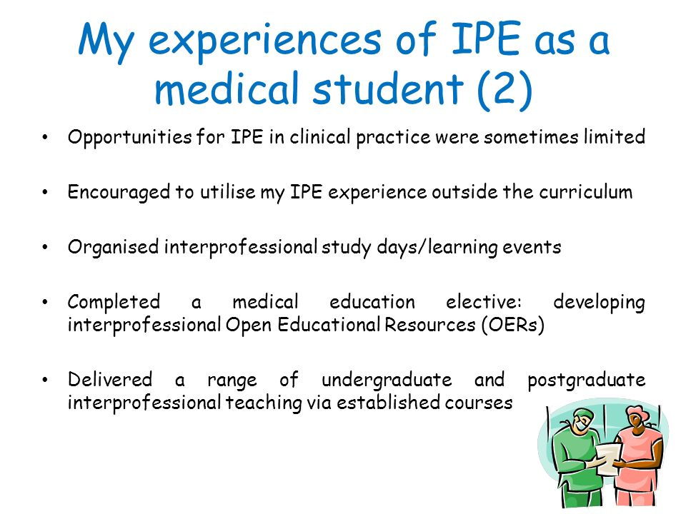 My experiences of IPE as a medical student (2)