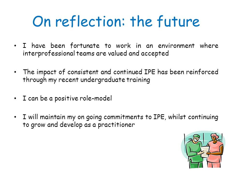 On reflection: the future