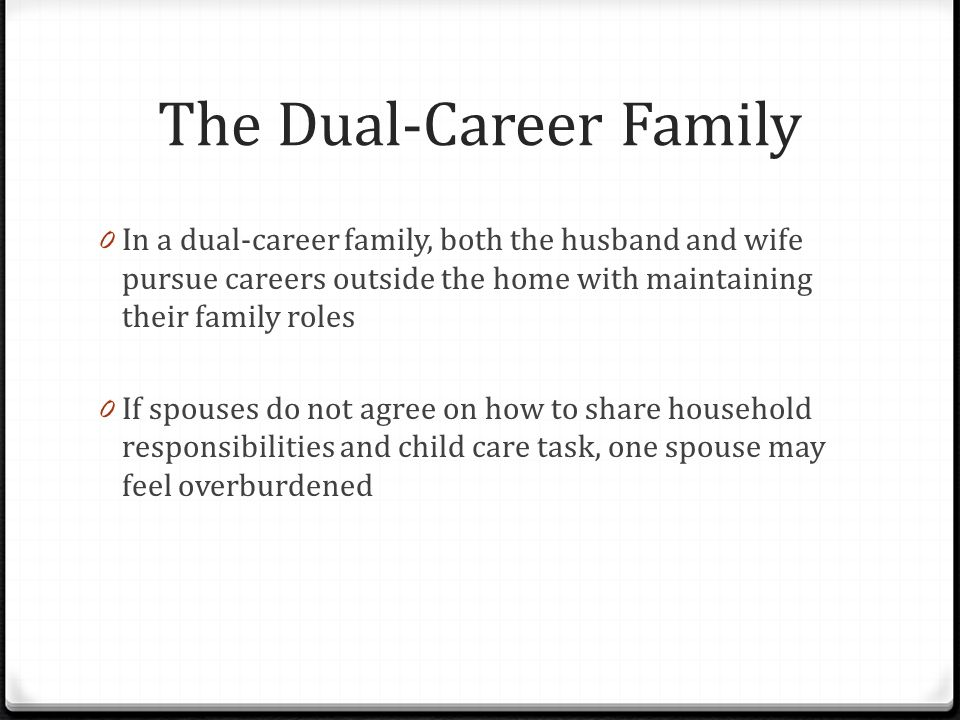 The Dual-Career Family