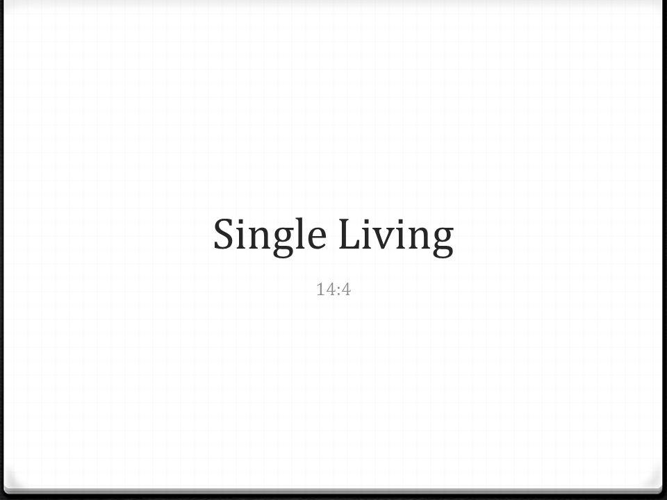 Single Living 14:4