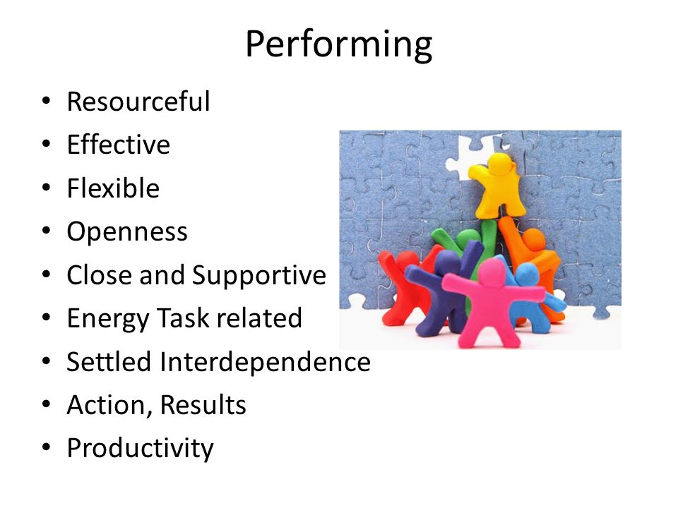 Performing Resourceful Effective Flexible Openness