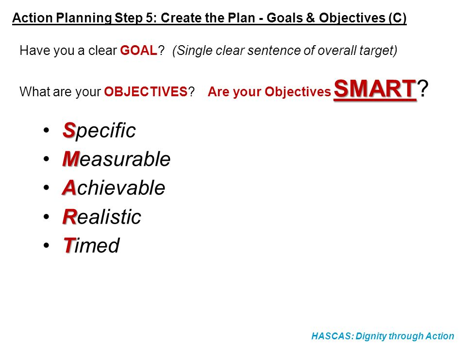 Specific Measurable Achievable Realistic Timed