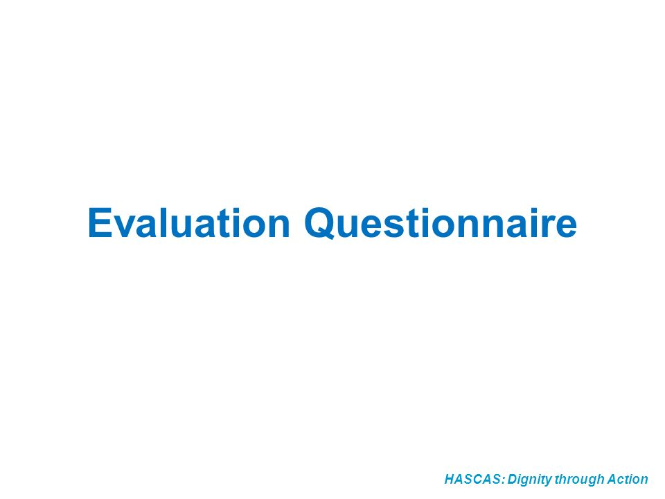 Evaluation Questionnaire