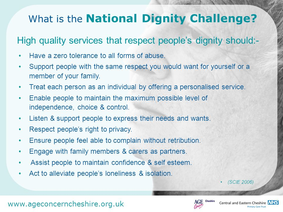 What is the National Dignity Challenge