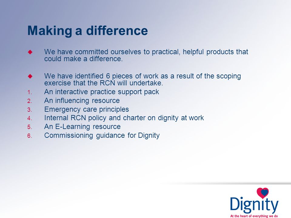 Making a differenceWe have committed ourselves to practical, helpful products that could make a difference.