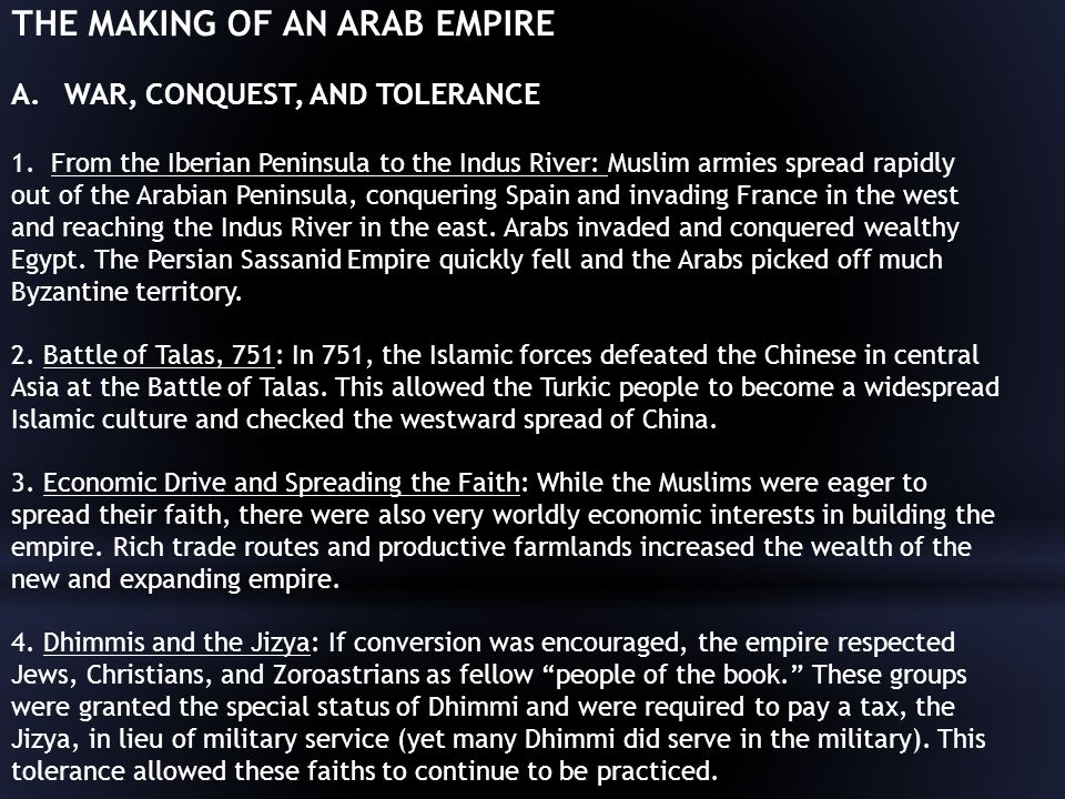 THE MAKING OF AN ARAB EMPIRE