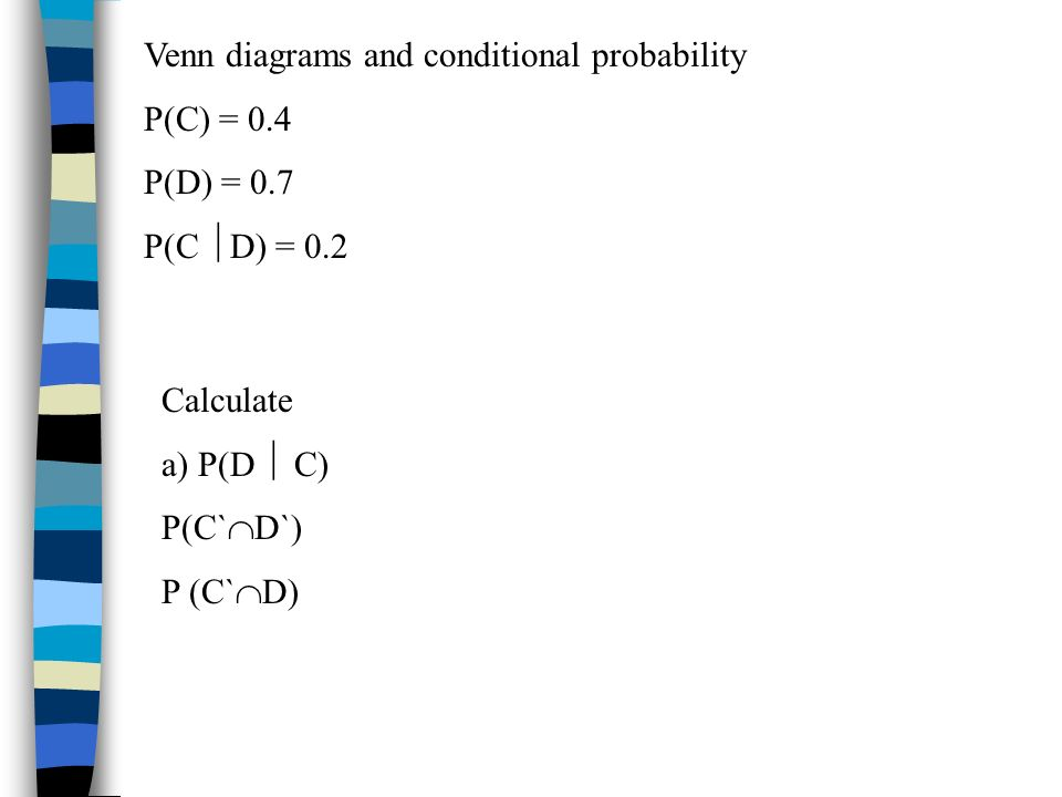 Venn diagrams and conditional probability