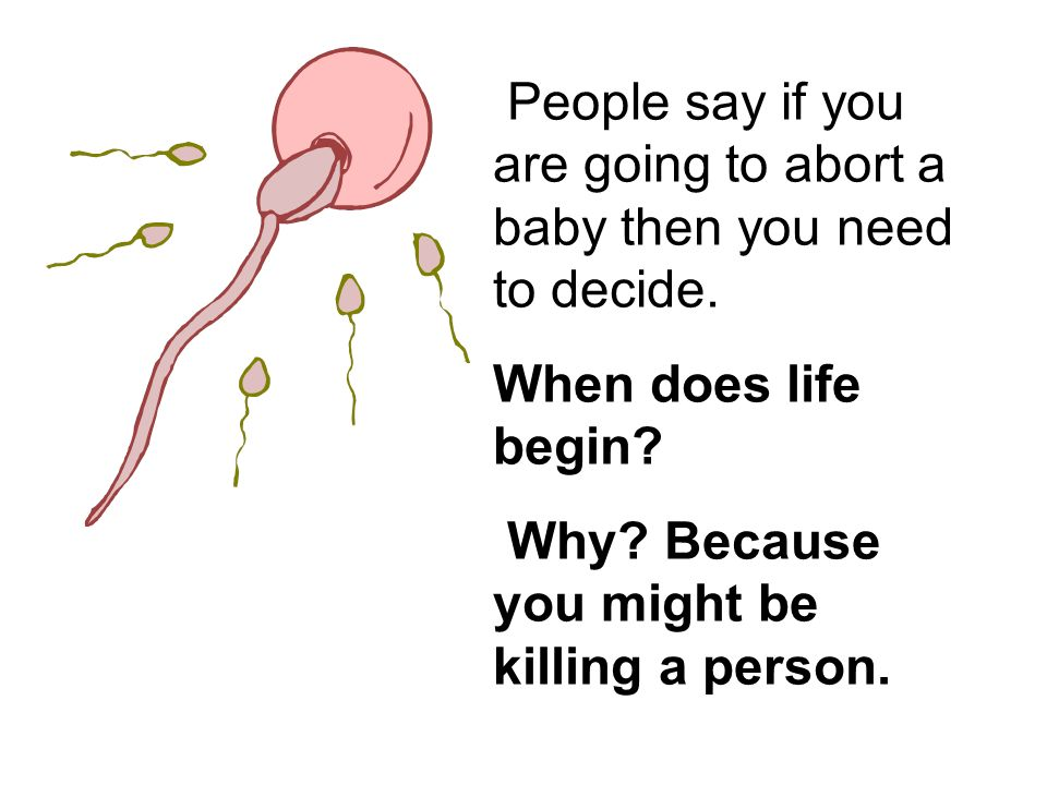 Why Because you might be killing a person.