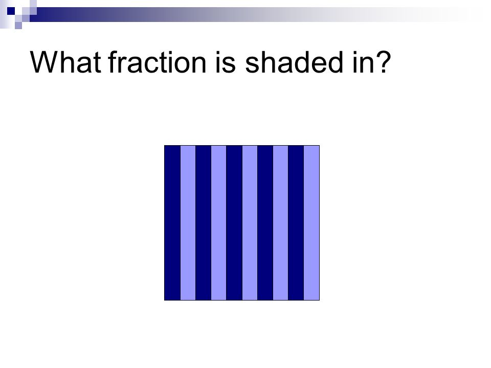 What fraction is shaded in