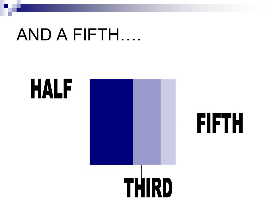 AND A FIFTH…. HALF FIFTH THIRD