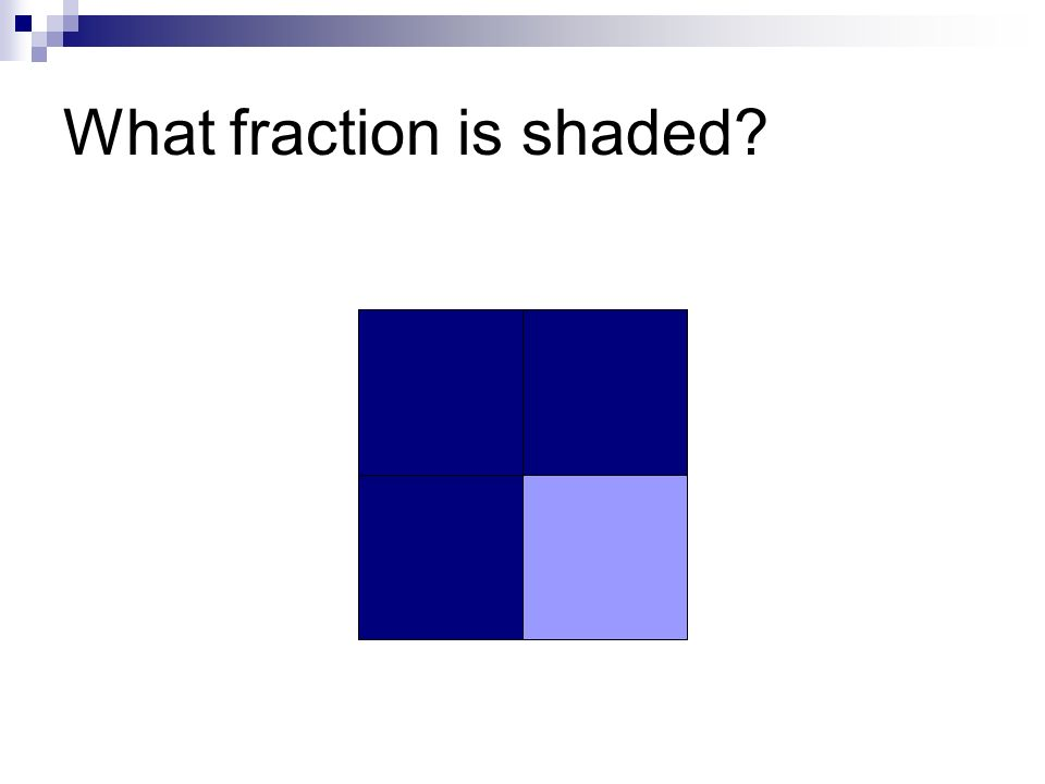 What fraction is shaded