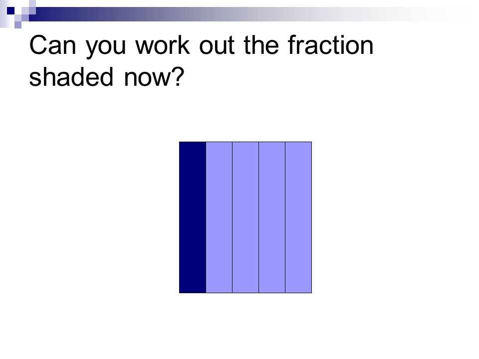 Can you work out the fraction shaded now