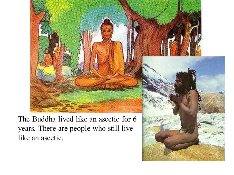 The Buddha lived like an ascetic for 6 years
