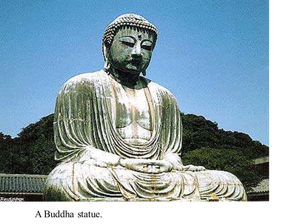 A Buddha statue.