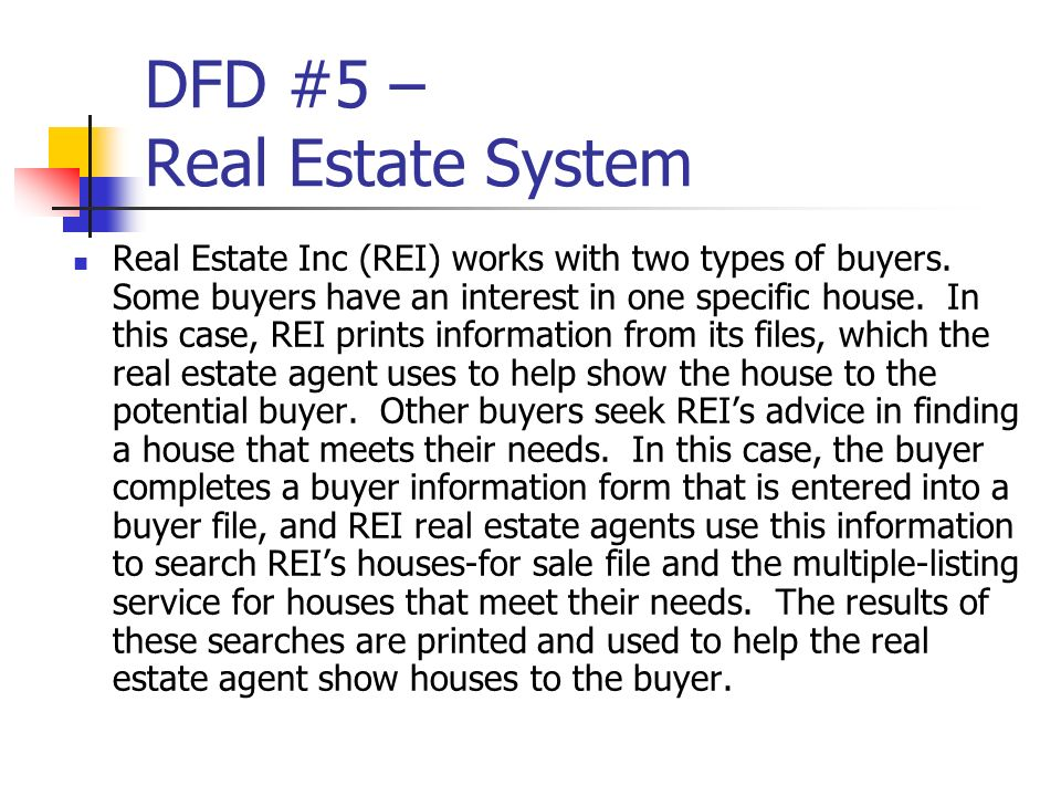 DFD #5 – Real Estate System